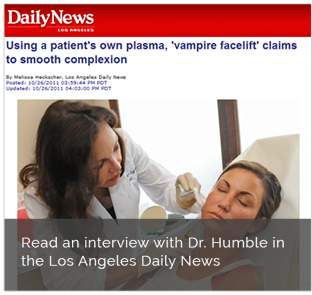 Read an interview with Dr. Humble in the Los Angeles Daily News