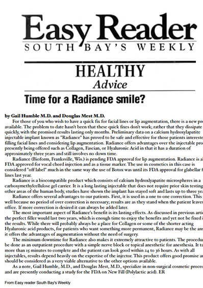 Time for a Radiance smile journal banner